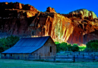 The barn from an old farmstead in Capitol Reef National Park, Utah