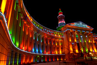Every year the city of Denver lights up its city and county building. Here is the 2007 edition.