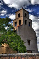 Our Lady of Guadalupe Church in Santa Fe, NM. This structure dates from the 17th century.